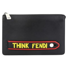 Fendi Vocabulary Pouch Inlaid Leather Small
