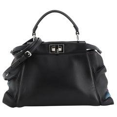Fendi Wave Peekaboo Bag Leather Mini