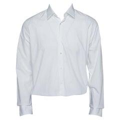 Fendi White Cotton Button Front Shirt XL