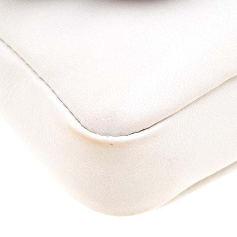 Fendi White Leather Micro Monster Baguette Bag 5