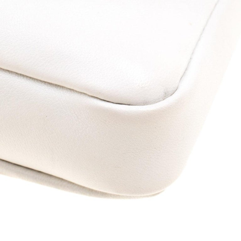 Fendi White Leather Micro Monster Baguette Bag 6