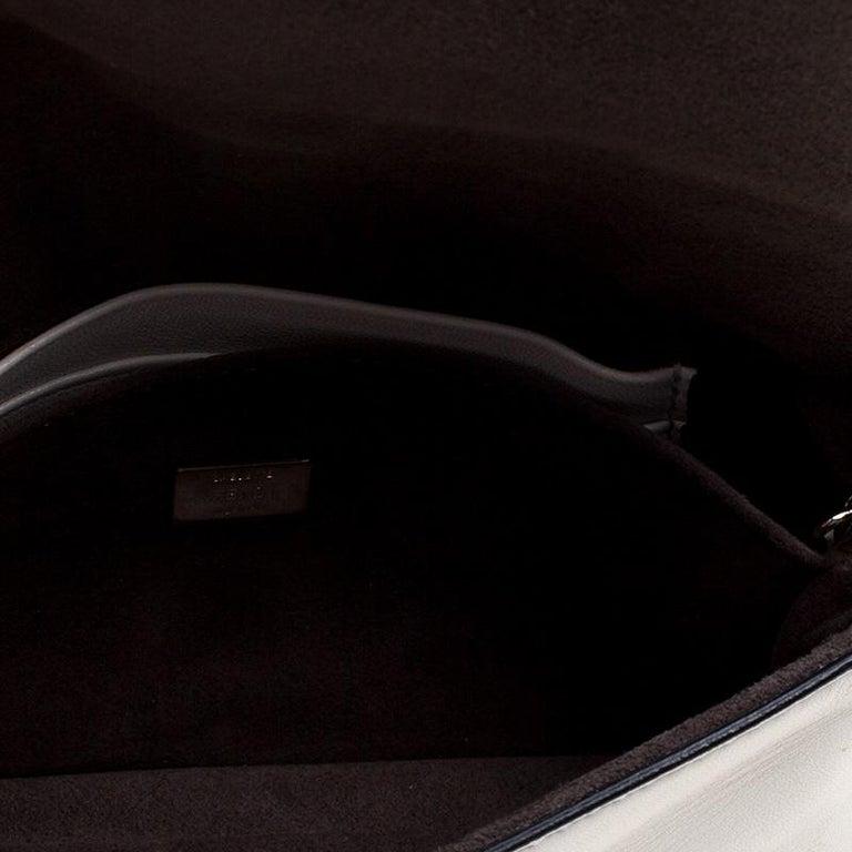 Fendi White Leather Micro Monster Baguette Bag 2