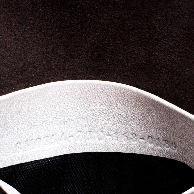 Fendi White Leather Micro Monster Baguette Bag 3
