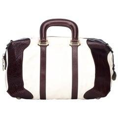 Fendi White Leather Travel Bag