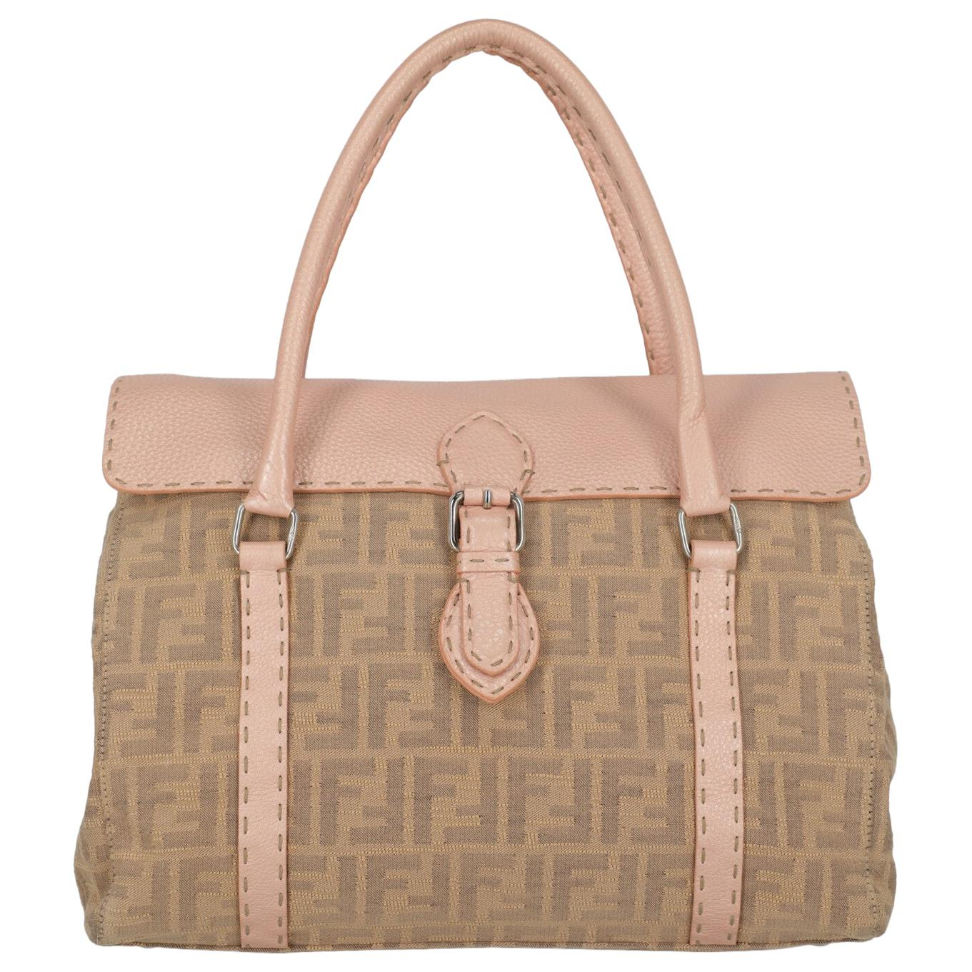 Fendi Woman Handbag Beige Fabric