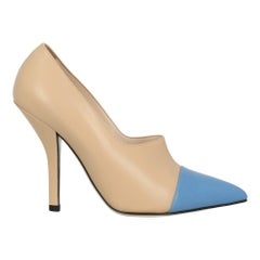 Fendi Woman Pumps Beige Leather IT 39