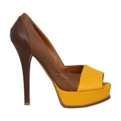 Fendi Woman Pumps Brown Leather IT 39