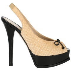 Fendi Woman Sandals Beige Eco-Friendly Fabric IT 38