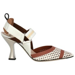 Fendi Woman Sandals Brown Leather IT 36.5