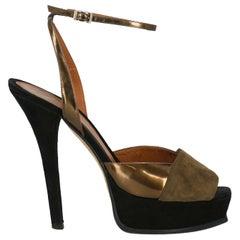 Fendi Woman Sandals Brown Leather IT 40