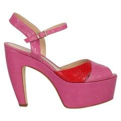 Fendi Woman Sandals Pink Leather IT 39