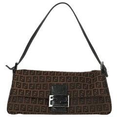 Fendi Woman Shoulder bag Baguette Black Fabric