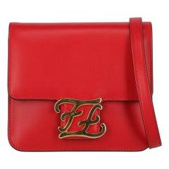 Fendi Woman Shoulder bag  Red Leather