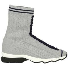 Fendi Woman Sneaker Silver IT 37