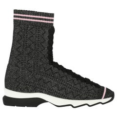 Fendi Woman Sneakers Black Fabric IT 35