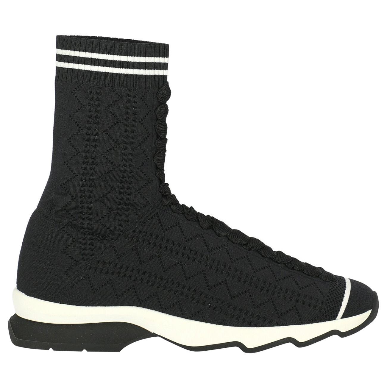Fendi Woman Sneakers Black Fabric IT 39