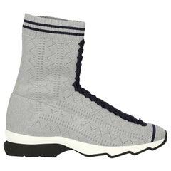 Fendi Woman Sneakers Silver Fabric IT 37