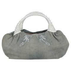 Fendi Women  Handbags Spy Blue Cotton