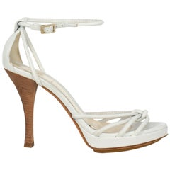 Fendi Women  Sandals White Leather IT 37.5