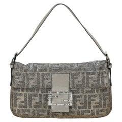 Fendi  Women   Shoulder bags Baguette Gold, Silver Fabric
