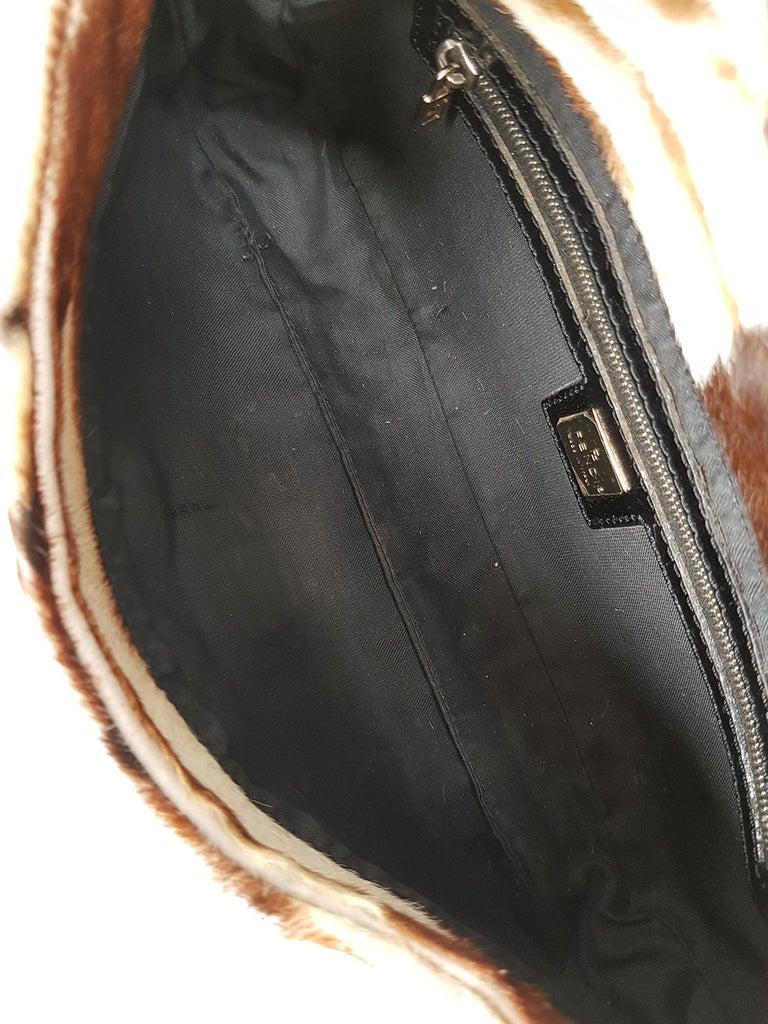 Fendi Women's Handbag Baguette Brown/Ecru Leather 2