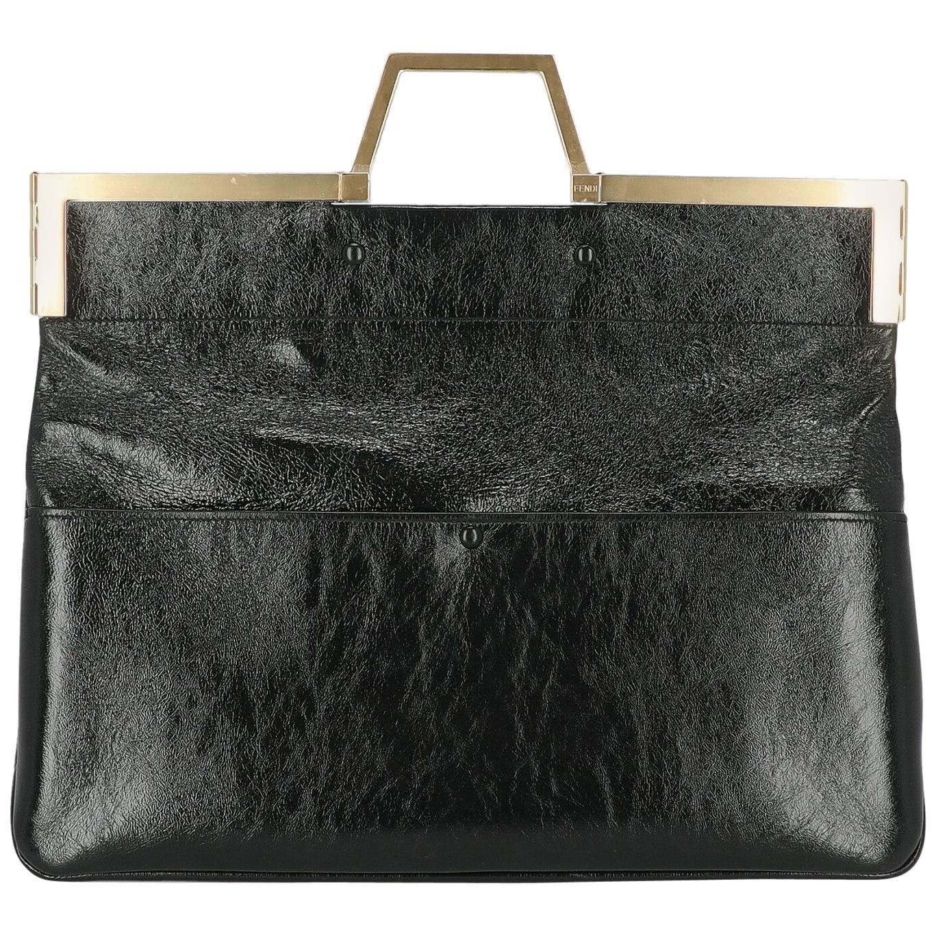 Fendi Women's Handbag Black Leather