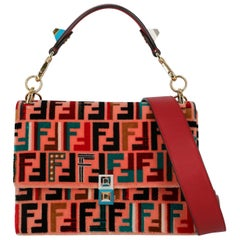 Fendi Women's Handbags Kan I Pink Fabric