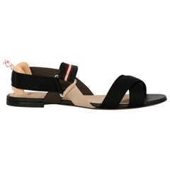 Fendi Women's Sandals Beige, Black, Burgundy Fabric IT 39