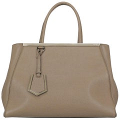 Fendi Women's Tote Bag 2Jours Beige