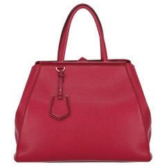 Fendi Women's Tote Bag 2Jours Red Leather