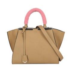 Fendi Women's Tote Bag 3Jours Beige Leather