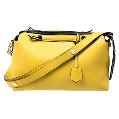 Fendi Yellow Leather Medium By The Way Boston Bag