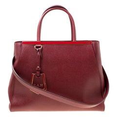 Fendi Yellow Saffiano Leather 2Jours Top Handle Bag