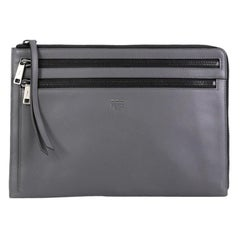 Fendi Zip Pouch Leather Large