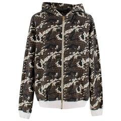 Fendi Zip Up Camo Print Hooded Jacket L 50