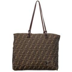 Fendi Zucca Brown Tote Bag