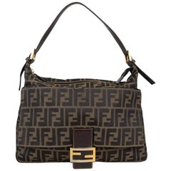 Fendi Zucca Mama Forever Baguette Shoulder Bag