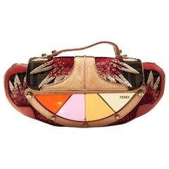 FENDI Zucca Mirror Vanity Mini Clutch Shoulder Bag