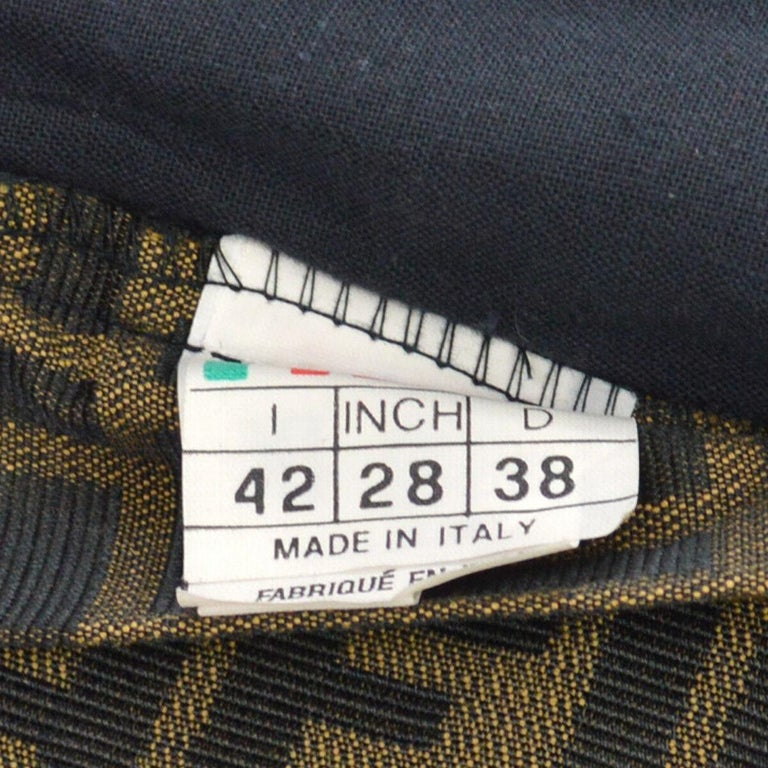 Fendi Zucca Monogram Logo Women's Logo Short  Above the Knee Skirt For Sale 3