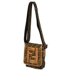 FENDI Zucca one shoulder cross body Womens shoulder bag 7VA155/MX7 khaki x brown