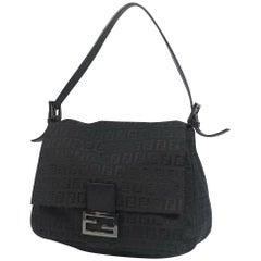 FENDI Zucca one shoulder ma MMa bucket Womens shoulder bag black