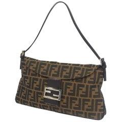 FENDI Zucca one shoulder ma MMa bucket Womens shoulder bag khaki x brown