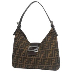 FENDI Zucca one shoulder Womens shoulder bag khaki x black