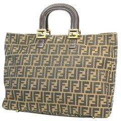 FENDI Zucca pattern Womens tote bag brown x khaki