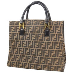 FENDI Zucca pattern Womens tote bag khaki x black