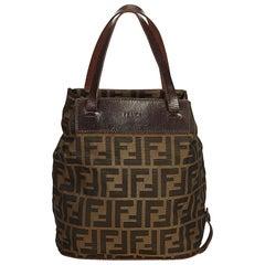 Fendi Zucca Print Logo Nylon Tote Bag