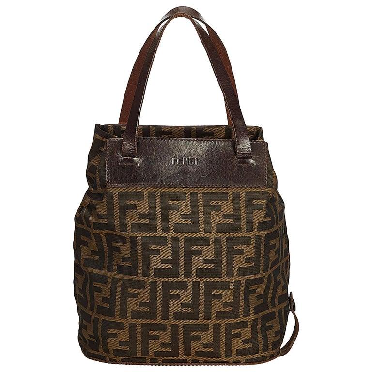 f4436d3947 Fendi Zucca Print Logo Nylon Tote Bag For Sale at 1stdibs