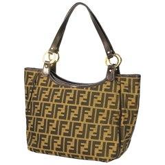 FENDI Zucca shoulder Womens shoulder bag 8BH156-JWU khaki x brown