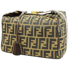FENDI Zucca Vanity pouch Womens handbag black x khaki
