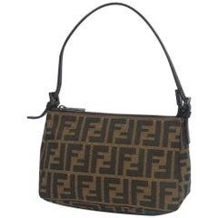 FENDI Zucca Womens pouch brown x khaki